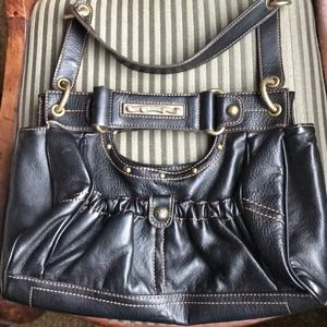 Kathy Van Zeeland Deep Brown Leather Purse